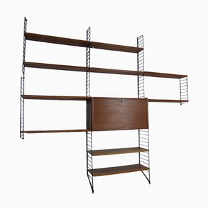 Teak Wall Unit by Nisse Strinning for String, 1950s