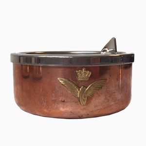 Copper & Stainless Steel Ashtray from Fabian of Copenhagen, 1950s