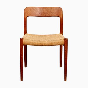 Vintage Teak Number 75 Dining Chairs by Niels Otto Møller, Set of 4