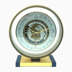 Reloj de mesa italiano de metal de Citizen, años 50