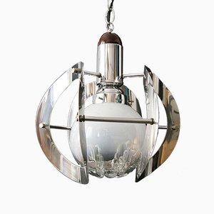 Murano Glass Ceiling Lamp from Mazzega, 1960s