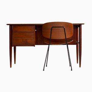 Scandinavian Desk and Chair Set, 1950s