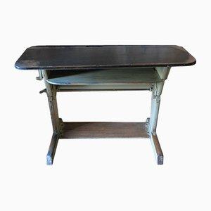 Vintage Metal and Wood Adjustable Desk from Rockhäuser