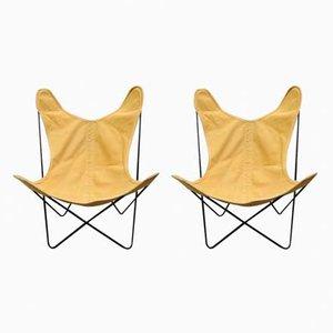 Mid-Century Butterfly Stühle von Jorge Ferrari-Hardoy für Knoll Inc, 2er Set