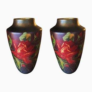 Französische Art Deco Vasen, 1930er, 2er Set