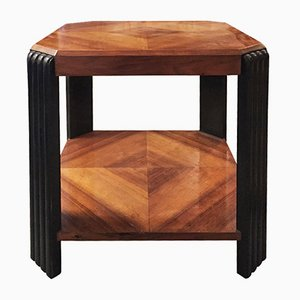 French Art Deco Rosewood Octagonal Table, 1930s