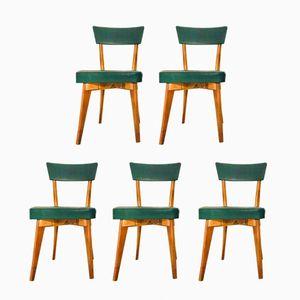 Schwedische Esszimmerstühle, 1960er, 5er Set