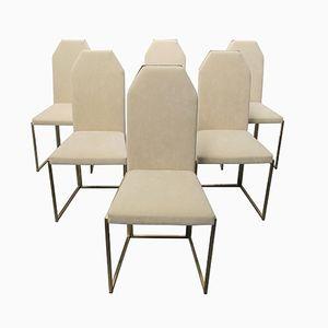 Esszimmerstühle von Belgo Chrom, 1970er, 6er Set