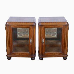 Vintage Bedside Cabinets, Set of 2