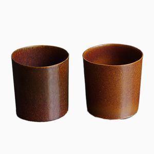 S.Pot Porcelain & Soapstone Enamel Mugs by Maddalena Selvini, 2014, Set of 2