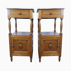 Vintage Belgian Bedside Tables, Set of 2