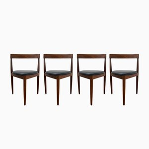 Compact Dining Chairs by Hans Olsen for Frem Røjle, 1950s, Set of 4