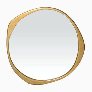 Espejo A.Cepa de bronce macizo trabajado a mano de Konekt