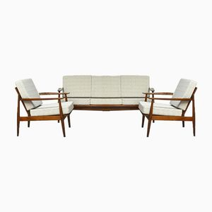 Scandinavian Teak Lounge Set, 1960s