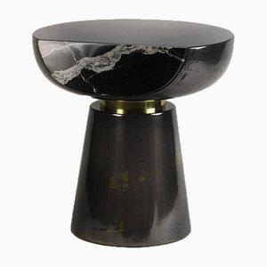 Tavolino Ya Yo Liquid in metallo e marmo di Privatiselectionem
