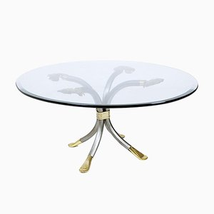 Brass & Iron Coffee Table by Manfred Bredohl, 1970s