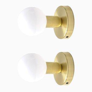Lámparas de pared minimalistas modernas de latón macizo de Balance Lamp. Juego de 2