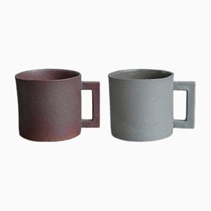 S.Pot Grey & Brown Cups by Maddalena Selvini, 2015, Set of 2