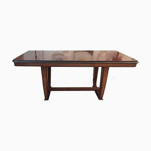 French Art Deco Table in Rosewood, Maple and Briar Root, 1930s