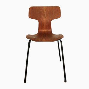 Modell 3103 Teak Hammer Stuhl von Arne Jacobsen für Fritz Hansen, 1960er