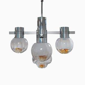 Lámpara de araña cromada de Mazzega, años 60