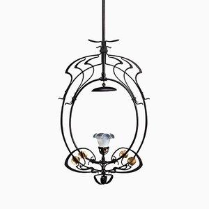 Lámpara de araña modernista de Gustave Serrurier-Bovy, 1900