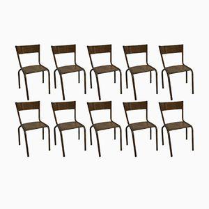 Chaises d'Enfant Vintage de Mullca, Set de 10