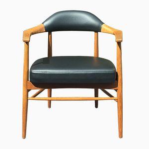 Silla de escritorio de roble macizo, años 60