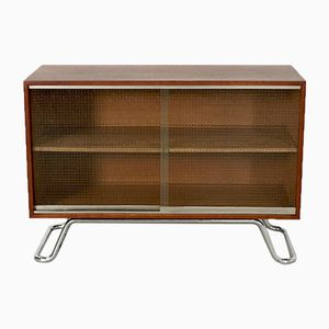 Teak Sideboard with Tubular Base, 1940s