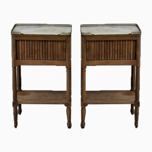 19th-Century French Bedside Tables, Set of 2
