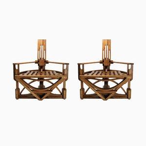 Konstruktivistische Stühle von Costea Covamaad, 1980er, 2er Set