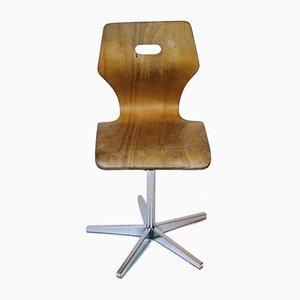 Sedia da scuola con altezza regolabile di Embru, anni '60