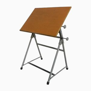 Industrial Adjustable Drawing Table, 1950s
