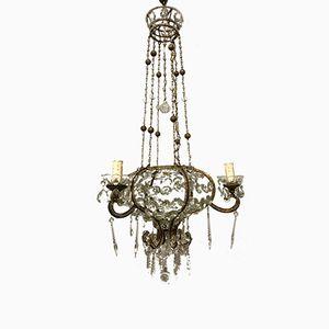 Vintage Beaded Crystal Chandelier