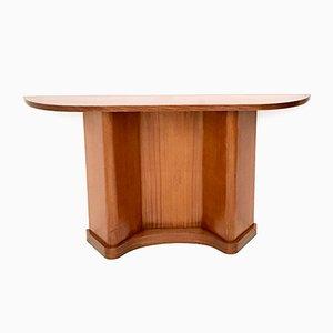 Mid-Century Italian Demilune Mahogany Console Table, 1950s