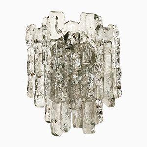 Lámpara de pared de cristal de hielo de J.T. Kalmar para Franken KG, años 60