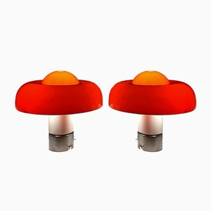 Brumbury Table Lamps by Luigi Massoni for Guzzini, 1969, Set of 2
