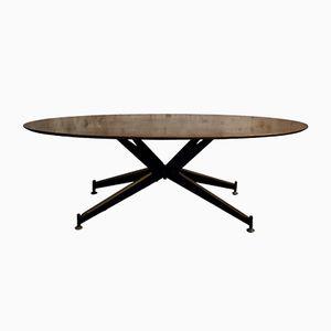Mid-Century Italian Oval Coffee Table, 1960s