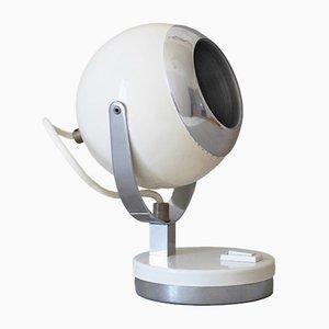 Lampada da tavolo con paralume sferico, anni '60