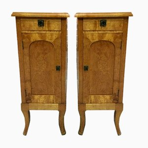 Antique French Satinwood Nightstands, 1920s, Set of 2