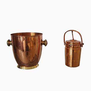 Juego para servir vino Mid-Century de cobre de Alfi, años 60