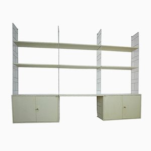 Large White Wall Unit by Kajsa & Nils Strinning for String, 1970s