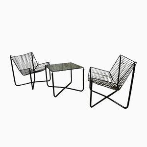 Fauteuils Jarpen avec Table Basse par Niels Gammelgaard pour Ikea, 1980s, Set de 2