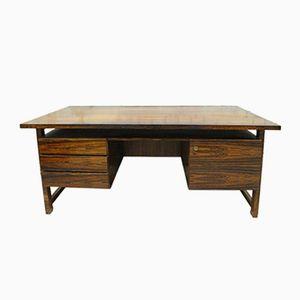 Schreibtisch mit Palisander Furnier, 1960er