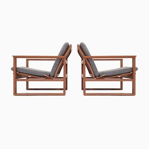 2256 Stühle in Schlitten Optik von Børge Mogensen für Fredericia, 1950er, 2er Set