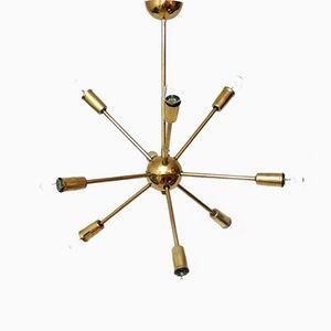 Lampadario Sputnik in ottone, anni '60