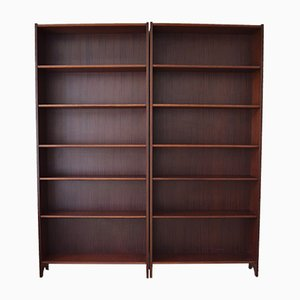 Mid-Century Teak & Rosewood Bookshelves, Set of 2