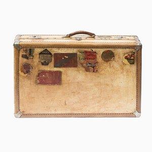 Antique Large Vellum Suitcase