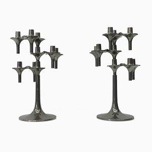 Modulare Kerzenständer von Ceasar Stoffi & Fritz Nagel für BMF, 2er Set