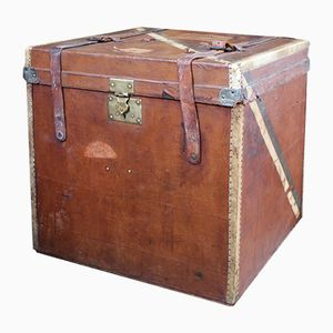 Antique French Square Travel Trunk
